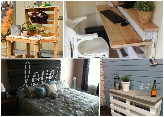 8 ideas originales de muebles hechos con pallets ideas for Muebles originales reciclados