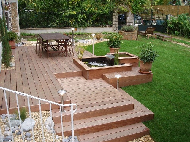 Cascada Terraza Madera Patio Ideas Perfectas