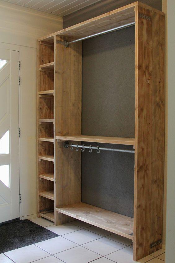 12 Closets Que Puedes Hacer Con Madera Reciclada Ideas Perfectas
